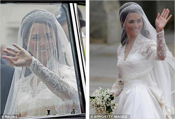 Mávajúca Kate Middleton vo svadobných šatách