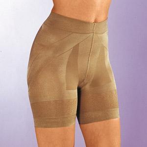 Vystužené sťahujúce nohavičky telovej farby