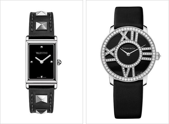 0eeb92344 Zľava Valentino v punkovom štýle a TiffanyampCo hodinky v minimalistickom  prevedení s dôrazom na diamantové zdobenie