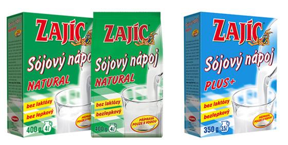 Sójové mlieko značky Zajíc