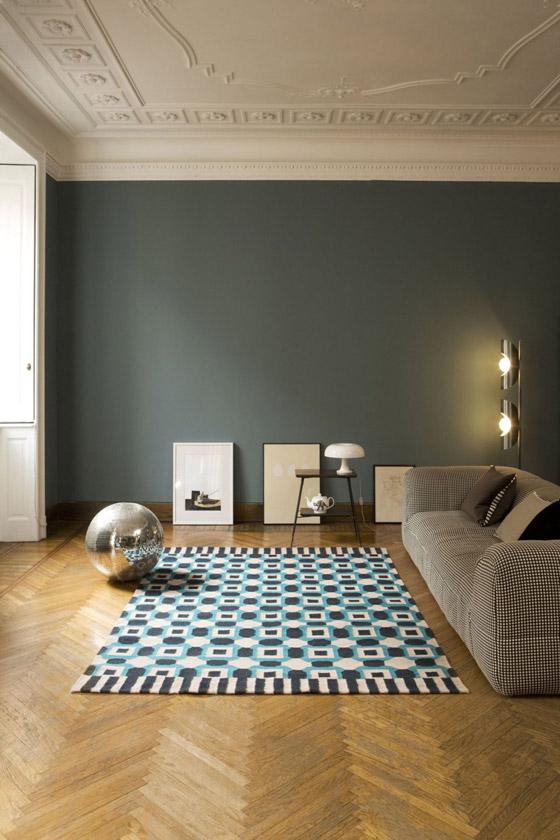 bda68931d Vlnený koberec DOGO z kolekcie mladých talianskych návrhárov pre značku  Karpeta