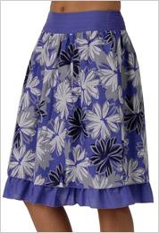 Modrá kvetovaná sukňa