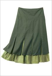 Zelená sukňa po kolená