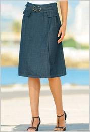 Tmavozelená sukňa s opaskom