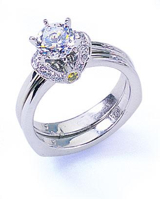 Diamantový zásnubný prsteň