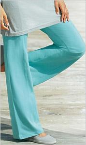 Tyrkysové dámske nohavice