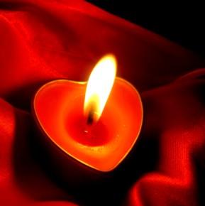 Sviečky v tvare srdca