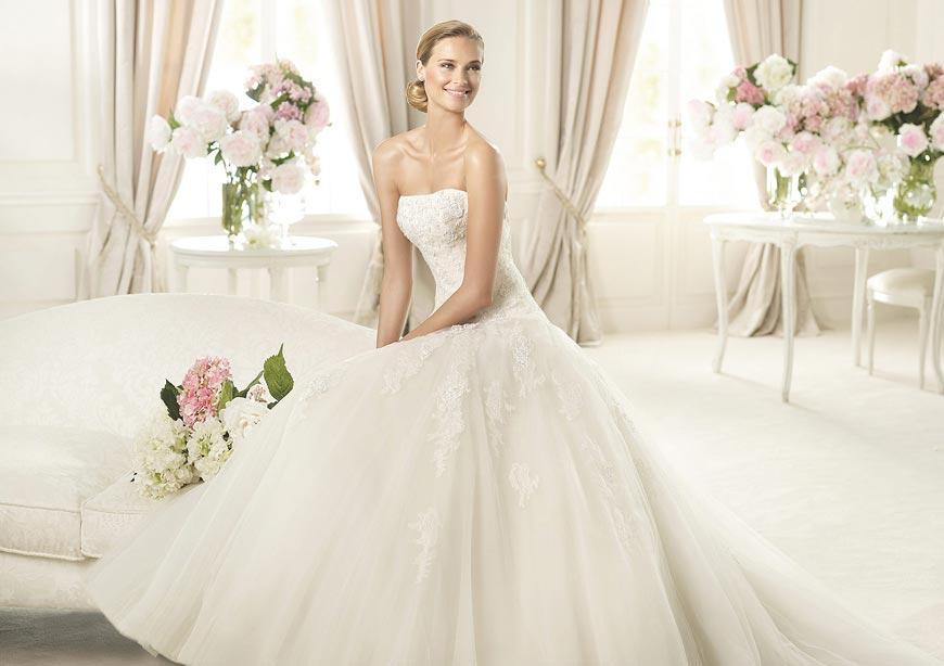 Svadobné šaty 2015 z kolekcie Pronovias Glamour
