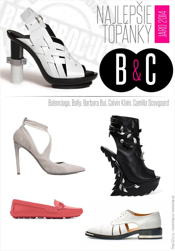 c23c1f088f6d Topánky pre jar a leto od top svetových značiek Calvin Klein Balenciaga  Bally Barbara Bui Camilla