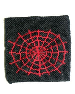 Čierne potítko s červenou pavučinou