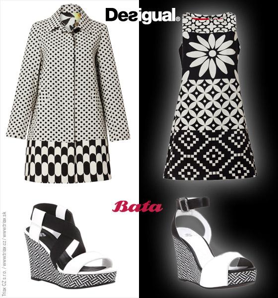 Čiernobiely look pre tohtoročnú jar – skombinujte oblečenie Desigual ... 6582190ca64