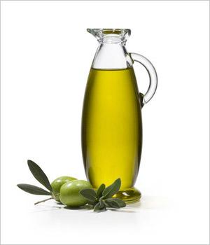 Fľaša s olivovým olejom