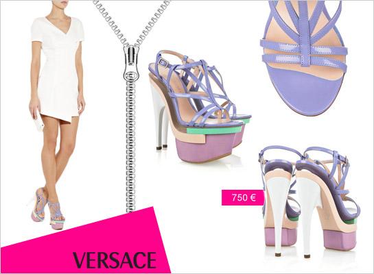 Pastelová platforma Versace