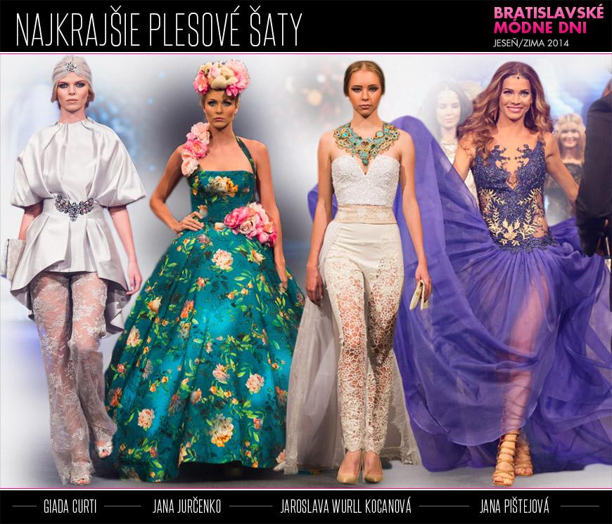 Najkrajšie plesové šaty pre sezónu jeseň zima 2014 2015 z Bratislavských  módnych dní 93dd197bed