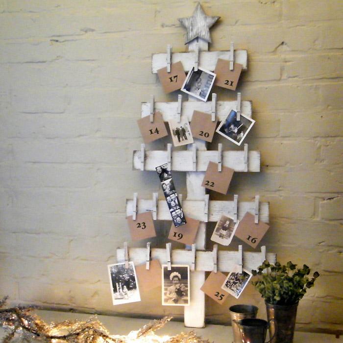 Vianočný stromček s fotkami