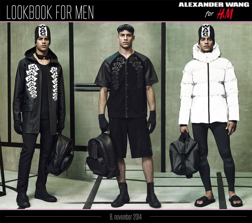 Pánska kolekcia Alexander Wang pre H&M: lookbook pre mužov.