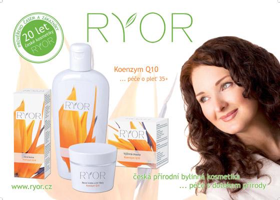 Kozmetika značky Ryor má vo svojom sortimente aj špeciálny rad s koenzýmom Q10