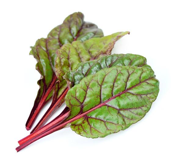 Lístky Mangoldu sú dvojfarebné - zelené aj červené