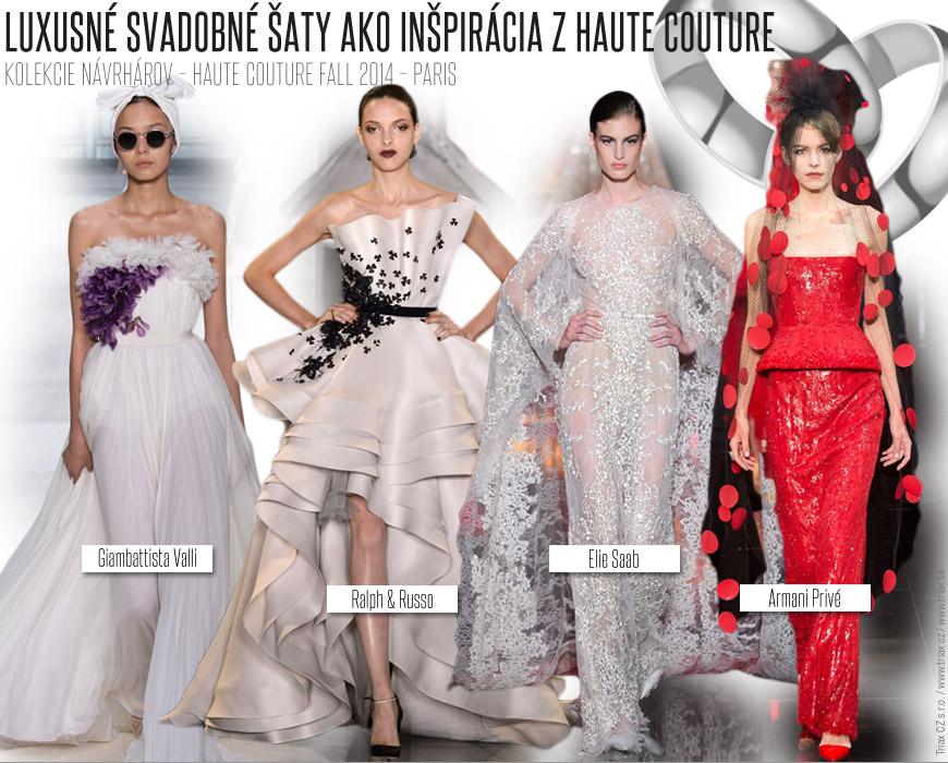 Luxusné svadobné šaty z Haute Couture Couture kolekcie pre jeseň 2014
