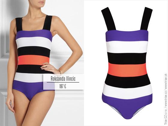Jednodielne plavky z kolekcie Roksanda Ilincic pre jar a leto 2014
