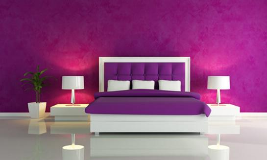 Nápad na fialovú spálňu