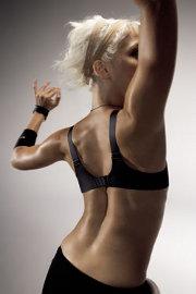 Chrbát športujúcej ženy