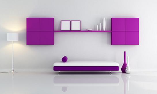 Fialová obývačková zostava