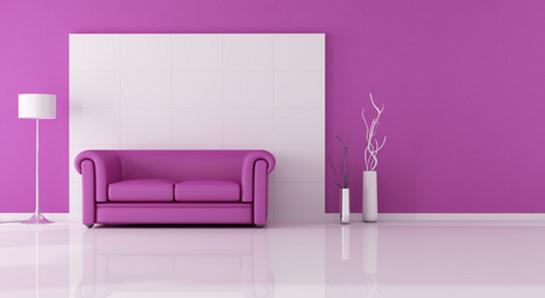 Nápad na fialový gauč