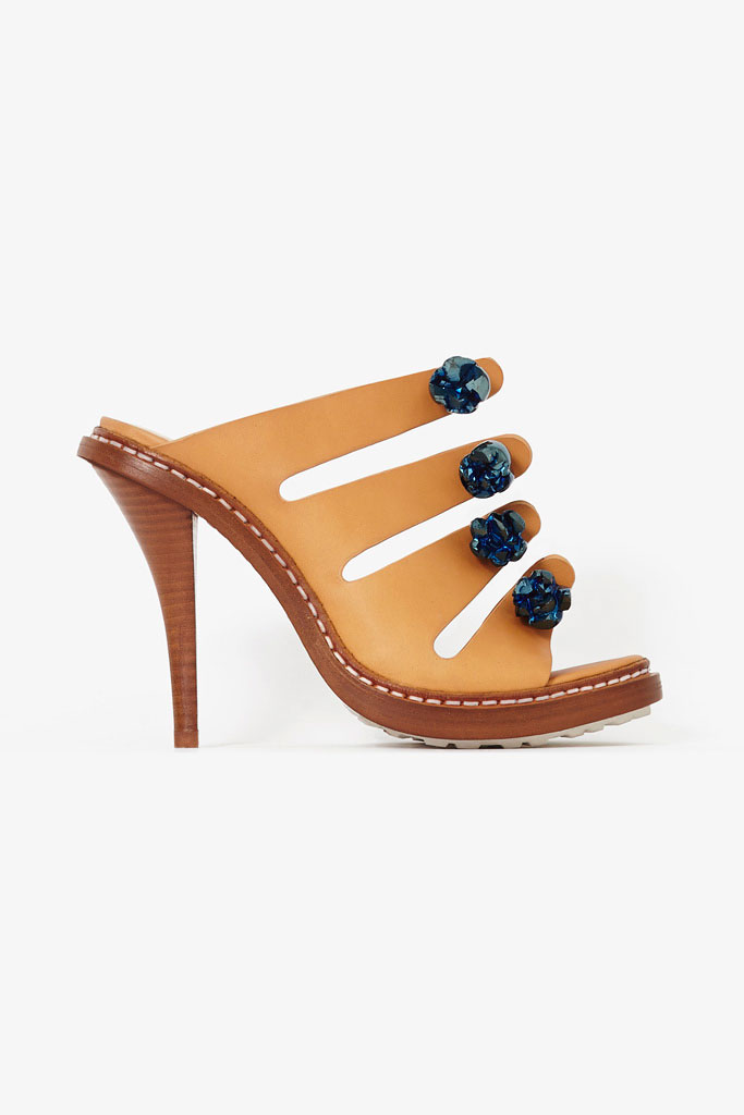 Hnedé papuče na vysokom podpätku