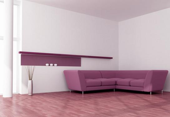 Decentný fialový gauč