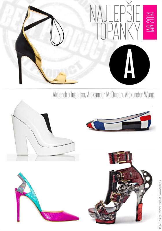 Topánky pre jar a leto 2014 od top svetových značiek Alejandro Ingelmo Alexander McQueen Alexander Wang