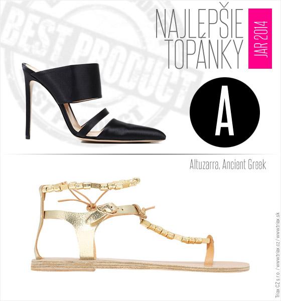 Topánky pre jar a leto 2014 od top svetových značiek Altuzarra Ancient Greek