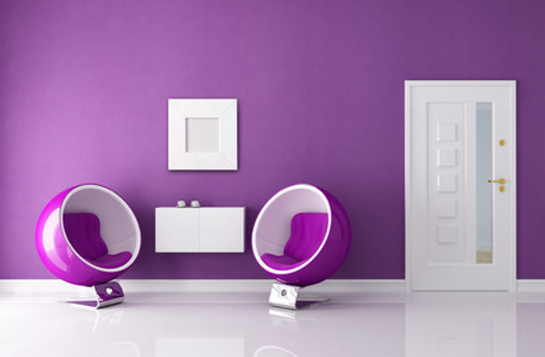Moderná fialová predsieň