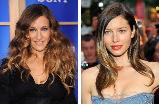 Technika Balayage pristane nielen hviezde seriálu Sex v meste Sarah Jessica Parker ale aj Jessica Biel