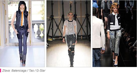 Džínsy s dierami aj záplatami Balenciaga Tao a G Star