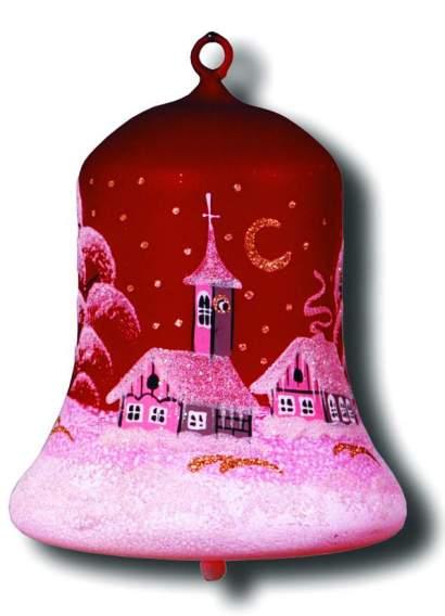 Maľovaný vianočný zvonček