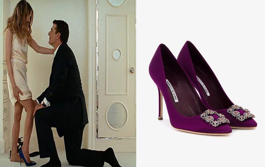 Carrie Bradshaw si obúva topánky od Manolo Blahnik s pánom Božským