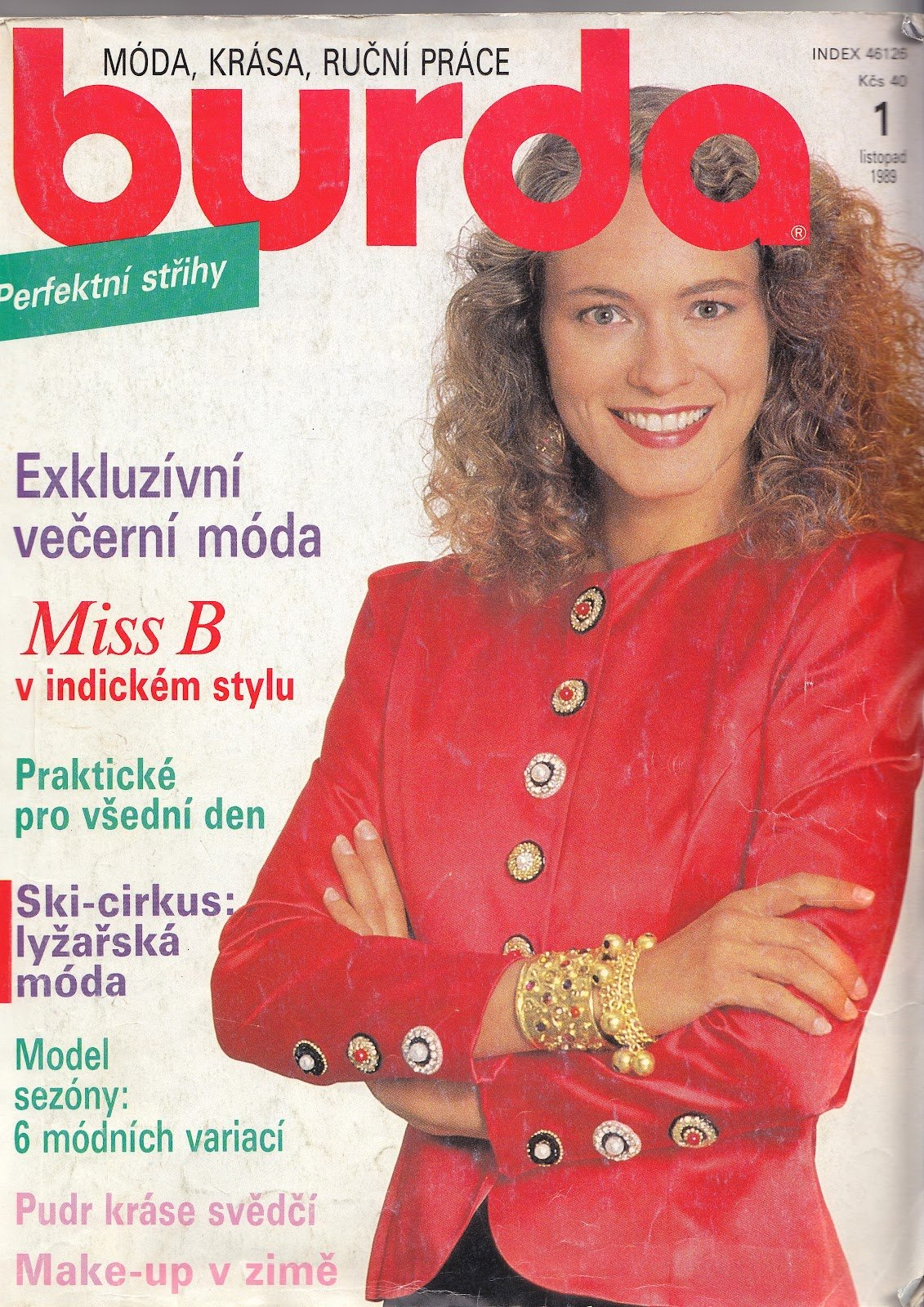 Časopis Burda z roku 1989