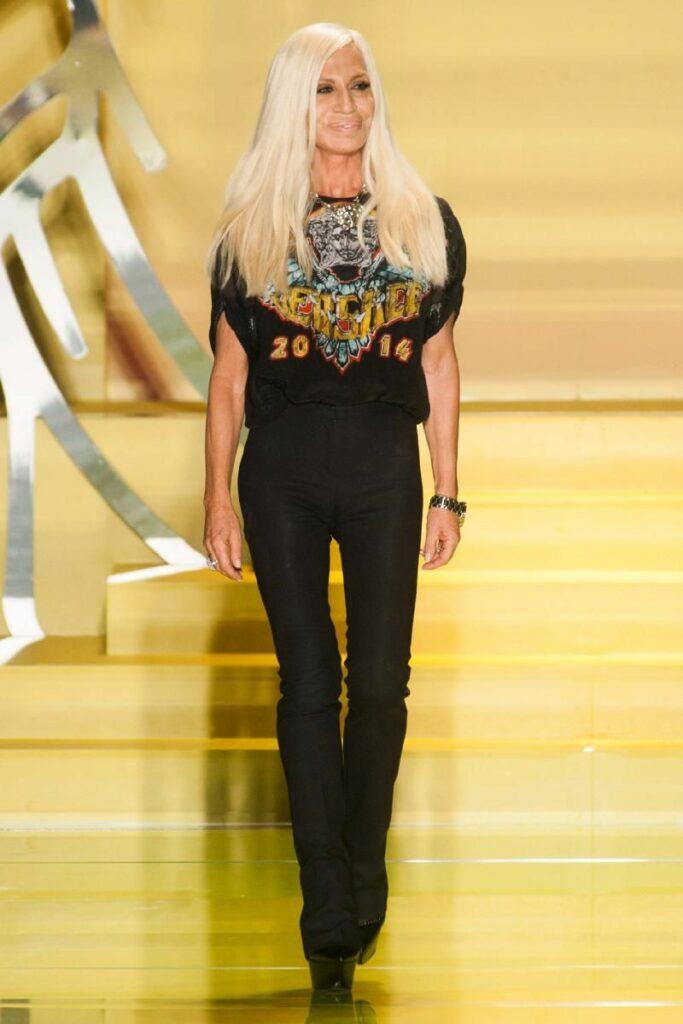 Donatella Versace rocker štýl