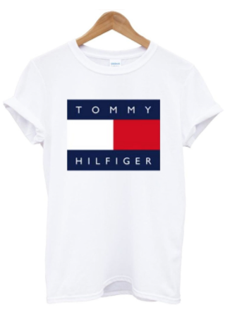 Ukážka značky trička Tommy Hilfiger