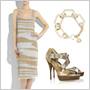Kombinujte zlaté a niklové outfity sbielou a čiernou!