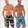 Trendy pánske plavky 2012: Pánskym plavkovým trendom tento rok dominujú šortkové strihy, pestré vzory a neónové farby!