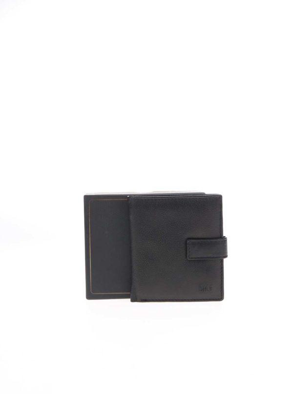 Čierna kožená peňaženka Dice Darcy