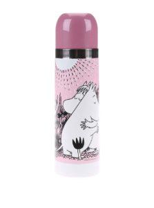 Svetloružová termoska Disaster Moomin Love