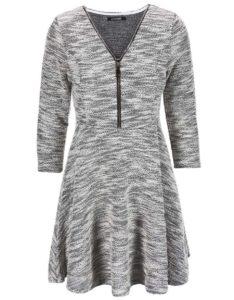 Čierno-sivé šaty na zips Haily´s Hazzy