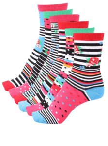 Súprava šiestich farebných dámskych ponožiek Oddsocks Cotton Kandy 78ce93a1e5d