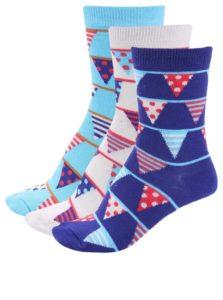 Súprava troch farebných dámskych narodeninových ponožiek Oddsocks Becky