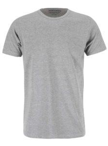 Sivé tričko s krátkym rukávom Jack & Jones Basic