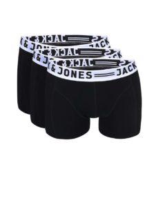Súprava troch boxeriek v čiernej farbe Jack & Jones Sense