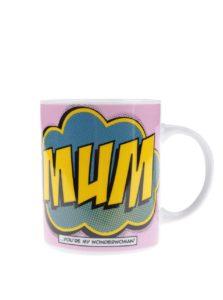 Ružový porcelánový hrnček s potlačou Gift Republic Mum